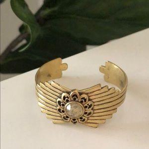 Free People Gold Cuff Bracelet